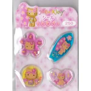 Hello Kitty Surf Bubble Sticker Sheet Arts, Crafts & Sewing