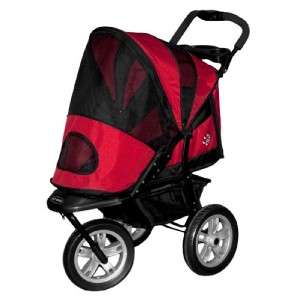 Pet Gear AT3 All Terrain Dog Stroller Red Poppy to 60#