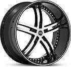 22 x8.5 Status Knight 5 S816 Black Machined Wheels Rims