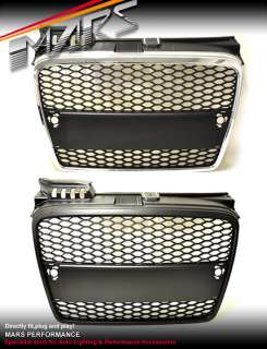 RS HONEY COM STYLE FRONT GRILLE GRILL FOR AUDI A4 S4 B7 S LINE