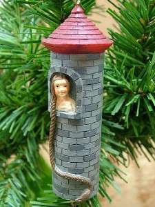 New Castle Rapunzel Hair Braid Fairy Tale Tree Ornament