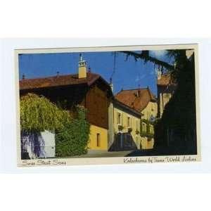 Street Scene Postcard Kodachrome Trans World Airlines