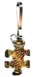 DT ~ DICHROIC AUTISM AWARENESS PUZZLE PIECE ZIPPER PULL