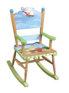 New Childrens Kids Wooden Rocking Chair Transportation