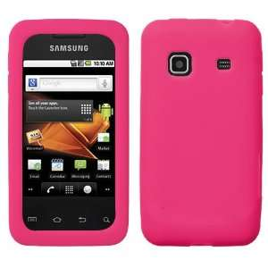 SAMSUNG BOOST MOBILE GALAXY PREVAIL HOT PINK SOLID SILICONE RUBBER