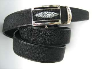 new Black GENUINE STINGRAY SKIN LEATHER Mens BELT size 1.3x46 inches