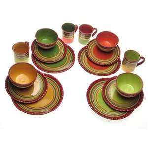 Certified International Hot Tamale 16 piece Dinnerware Set Service for