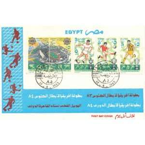 Egypt First Day Cover Extra Fine Condition Africa Futbol