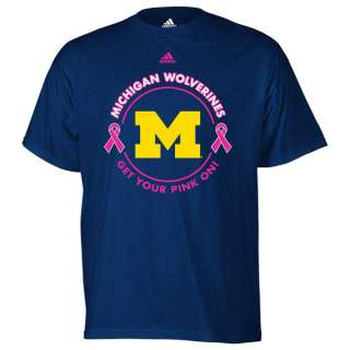 Michigan Wolverines adidas Navy Breast Cancer Awareness Live Pink