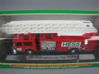 HESS Mini 1999 RED FIRE TRUCK Toy Model Original Box