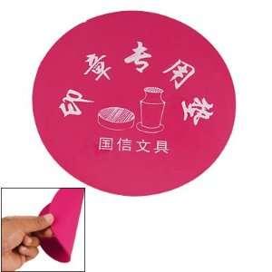 Dia Dark Pink Smooth Rubber Seal Stamp Mat Cushion