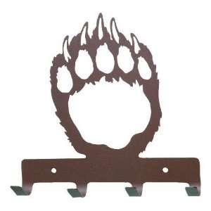 Bear Paw Print Metal Key Rack