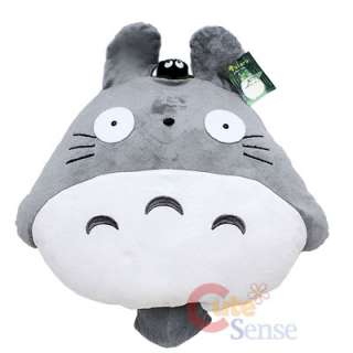 Grey Totoro Plush Doll Cushion Pillow w/Dust Bunny 20