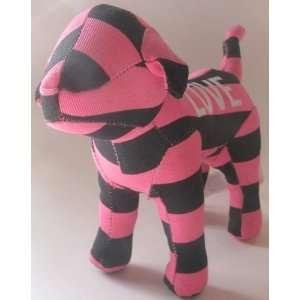 Victorias Secret Pink Solid Plush Dog Pink and Black