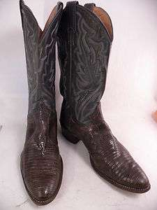 Justin Snake Brown Blue 10.5 D Mens Western Boots