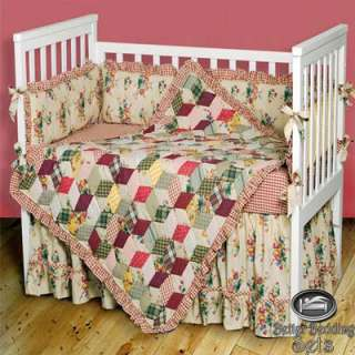 Baby Girl Kid Vintage Patchwork Crib Nursery Quilt Infant Newborn