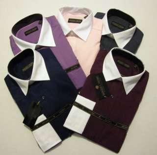 Donald Trump Mens Two Tone, French Cuff No Iron Dress Shirt $69.50