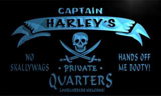 pw521 b Harleys Captain Quarters Pirate Beer Man Cave Bar Beer Neon
