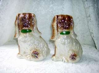 Ugly Staffordshire Style Spaniel Dogs Figurines