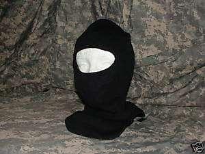 Balaclava, Face Mask, Ski Hood, Wool, Black, New