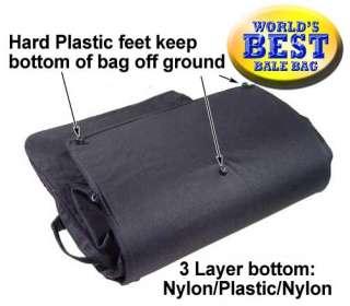 Heavy Duty Full Hay Bale Bag 3 Layer Bottom Nylon Black