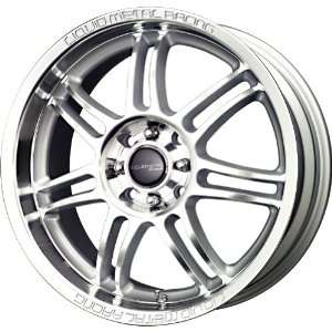 Liquid Metal Velocity Silver Wheel with Machined Face (17x7.5/5x115mm