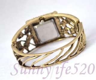 Square Luxury Purple Crystal Lady Dressing Bangle Watch