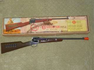 Colt 6 Shooter Rifle Toy Gun by Mattel Complete w/orig. box