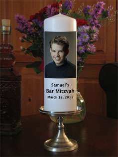 Personalized Custom Bar Mitzvah Candles from Goody Candles Photo
