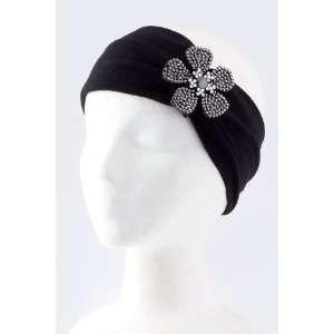 Fashion Hair Accessory ~Black Acrylic Rhinestone Flower