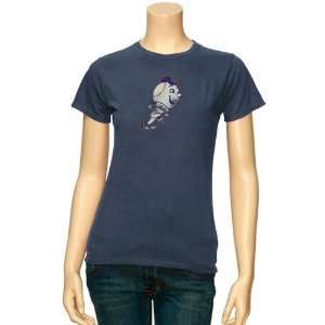 Mets Ladies Heather Blue Cooperstown Big Time Play T shirt (X Large