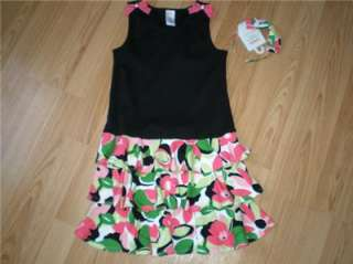 NWT GIRLS GYMBOREE PALM BEACH PARADISE DRESS+HEADBAND SZ 7