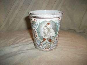 Queen Victoria diamond jubilee enamelled cup beaker