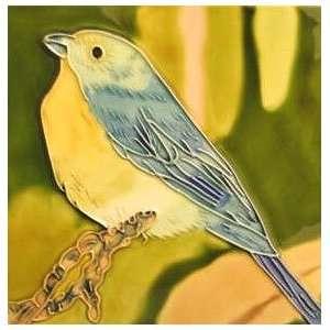 Finch Bird Ceramic Decorative Wall Art Tile 8x8