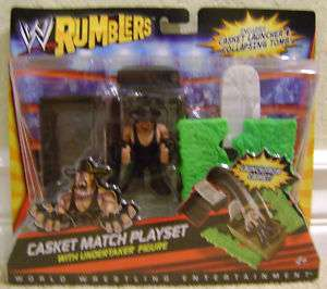 WWE RUMBLERS CASKET MATCH PLAYSET W/ UNDERTAKER NU