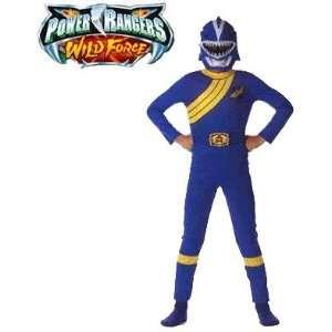 Power Rangers Wild Force Child Blue Ranger Costume Toys