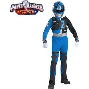 Space Patrol Delta Blue Power Ranger Child Costume: Toys & Games