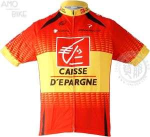 NWT CAISSE DEPARGNE RACING TEAM CYCLING JERSEY BIKE BICYCLE SHIRT sz