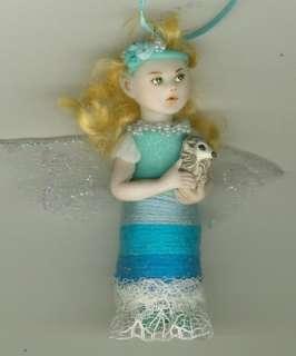 OOAK Olive Mermaid Mini Art Sculpt Sea Fairy Biel