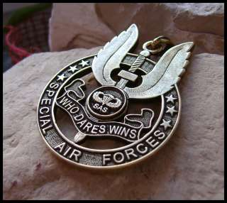 SPECIAL AIR FORCES BRITISH BADGE SAS PENDANT (W20BR)