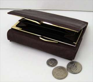 Lady Wallet GENUINE LEATHER Money Coin Buckle FREE SHIP