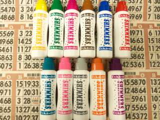 12PK OF SHIMMER/SPARKLE BINGO DAUBERS NEW COLORS