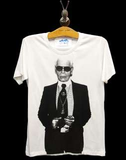 KARL LAGERFELD Fashion Designer Legend Rock T Shirt S/M