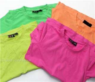 ROXY Ladies neon fluorescent Lime Green T Shirt Tank Top Assorted