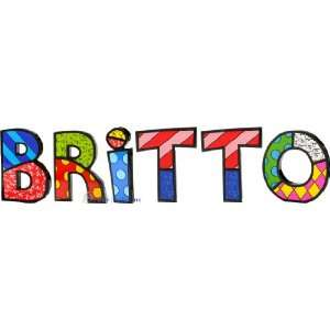 BRITTO Word Art for Table Top or Wall by Romero Britto