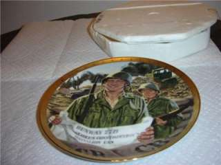 John Wayne Bravery Under Fire Franklin Mint Collectible Plate