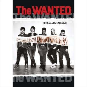 THE WANTED OFFICIAL 2012 UK WALL CALENDAR BRAND NEW AND SEALED