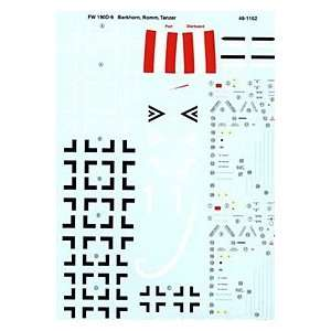 Fw 190 D 9 Aces Barkhorn, Tanzer, Romm (1/48 decals) Toys & Games