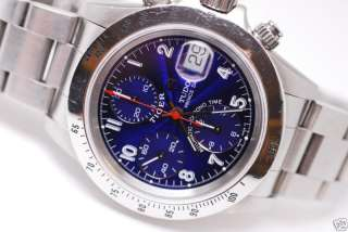 ,TIGER, CHRONO MENS,BLUE DIAL COLOR WITH OYSTER STEEL BAND, VERY NICE