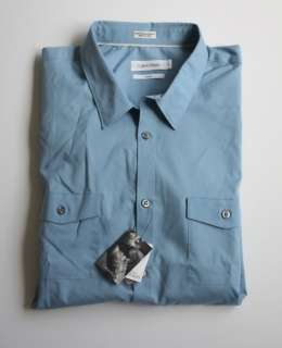 NWT CK Calvin Klein Body Slim Fit Pocket Dress Shirt XL
